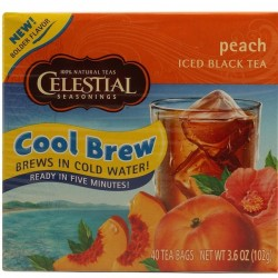 Celestial Seasonings Peach Cool Brew Ice T (6x40BAG )