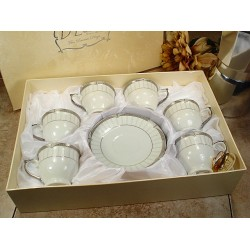 6 Cup 6 Saucer In Square Box classic