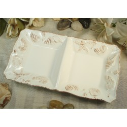 D'Lusso Designs Beach Design Two Section Dish