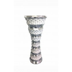 D'Lusso Designs Fontana Design 24 Inch Silver Vase