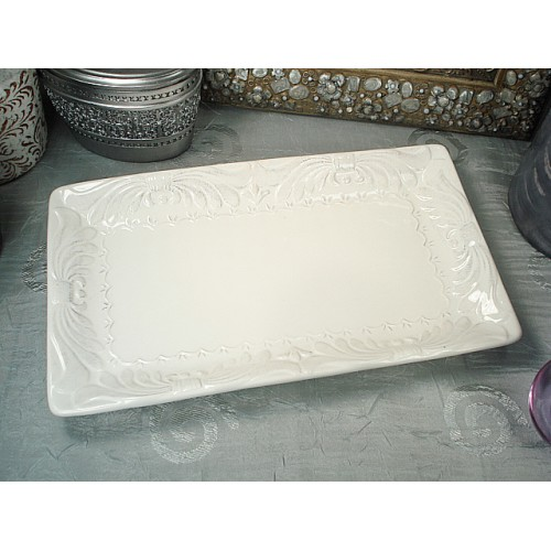 Rectangular Platter Deco Platinum Design