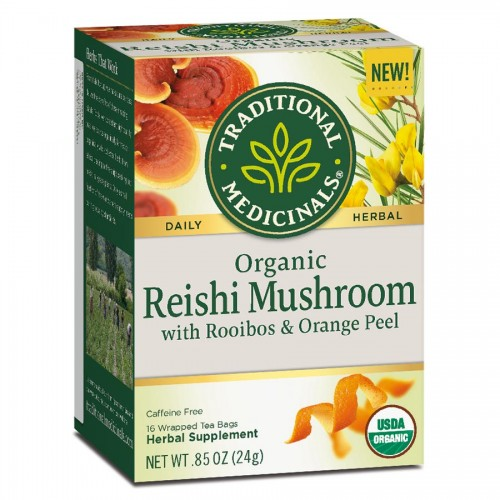 Traditional Medicinals Reishi Mushroom with Rooibos and Orange Tea 16 Tea Bags