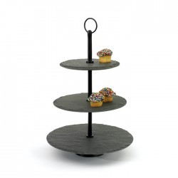 Round Slate Fruit Stand
