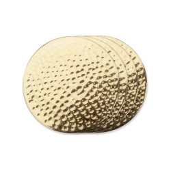 Belmont Hammered Brass Coasters by Viski