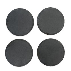 Country Home Circle Slate Coasters by Twine
