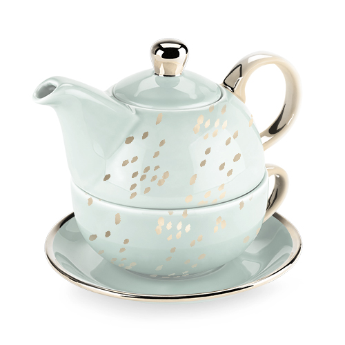Addison Champagne Dots Tea for One Set