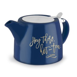 Harper Hey There, Hot-Tea Ceramic Teapot & Infuser by Pinky